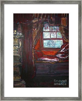 Wilhelmina's Windowseat Framed Print by Helena Bebirian