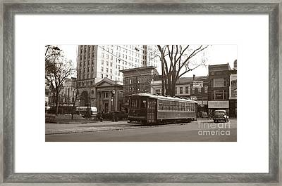 Wilkes Barre Pa Public Square Oct 1940 Framed Print