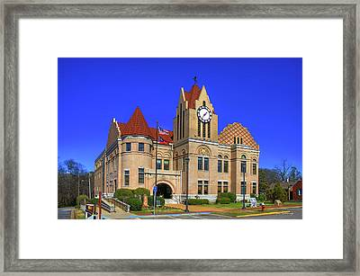 Wilkes County Courthouse Art Framed Print