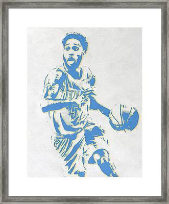 Will Barton Denver Nuggets Pixel Art Framed Print
