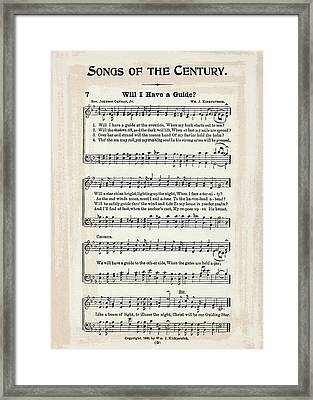 Will I Have A Guide 1900 Framed Print