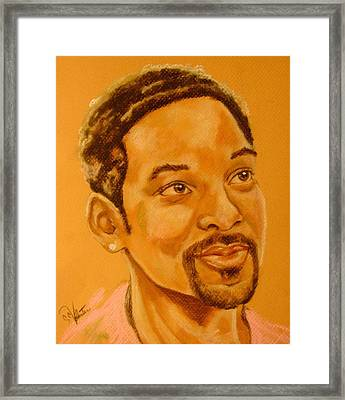 Will Smith Framed Print by Sandra Valentini