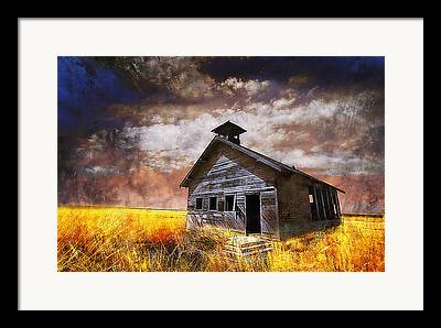 Country School House Framed Prints
