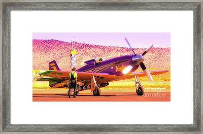 Will Whiteside And P-51 Mustang 'voodoo' Framed Print