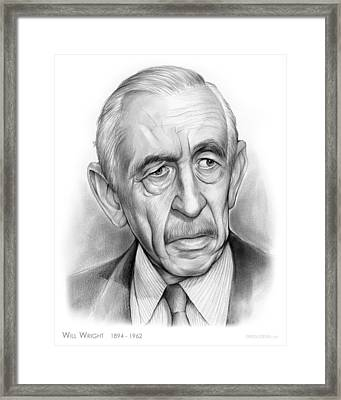 Will Wright Framed Print by Greg Joens