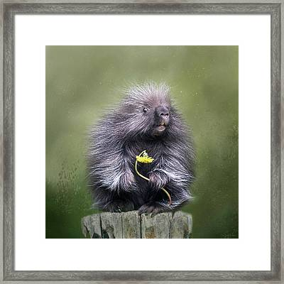 Framed Print featuring the digital art Will You Be Mine? by Nicole Wilde