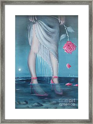 Framed Print featuring the painting Will You Be My Valentine by S G