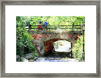 Will You Take My Hand Forever Framed Print by Julie Lueders