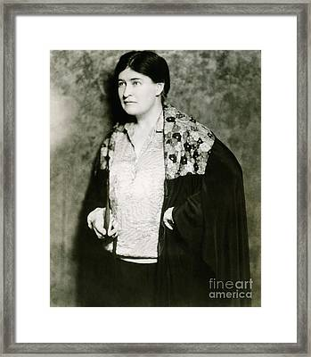 Willa Cather, American Author Framed Print by Photo Researchers