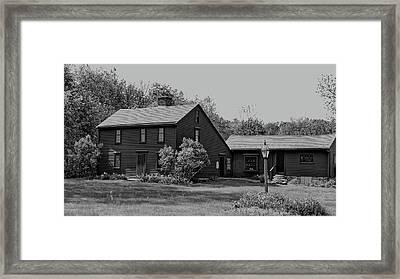 Willard House And Clock Museum Bw Framed Print