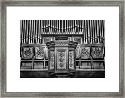 Willard Memorial Chapel Pulpit And Organ #3 Framed Print by Stephen Stookey