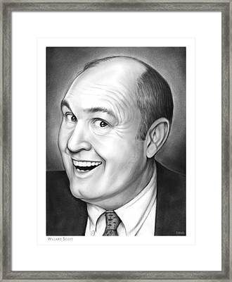 Willard Scott Framed Print by Greg Joens