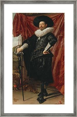 Willem Van Heythuyzen Framed Print by Frans Hals