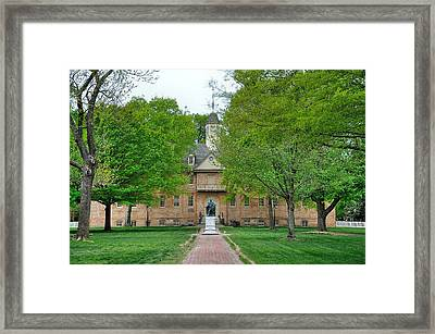 William And Mary Framed Print by Todd Hostetter