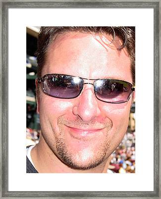 William At A Tigers Game Framed Print by William Watson