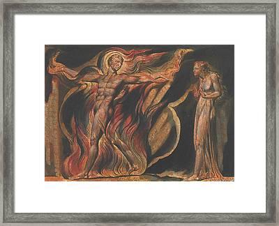 Jerusalem, Plate 26, Such Visions Have.... Framed Print by William Blake