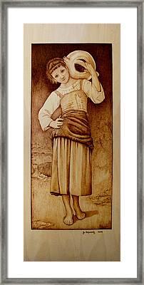 William Bouguereau Water Carrier Framed Print by Jo Schwartz