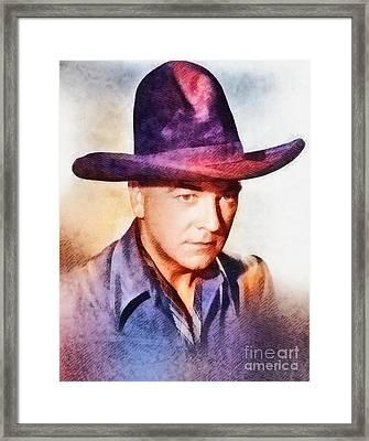 William Boyd, Vintage Hollywood Actor Framed Print by John Springfield