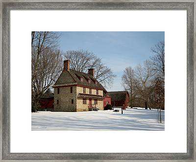 William Brinton House 1704 Framed Print by Gordon Beck