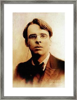 William Butler Yeats, Literary Legend By Mary Bassett Framed Print