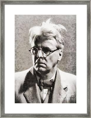 William Butler Yeats, Literary Legend Framed Print