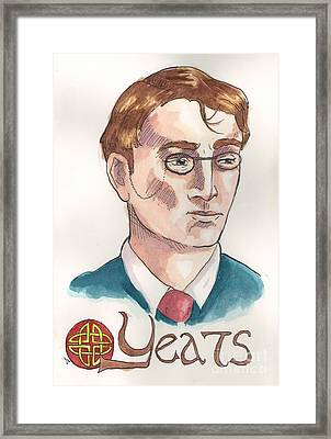William Butler Yeats Framed Print by Whitney Morton
