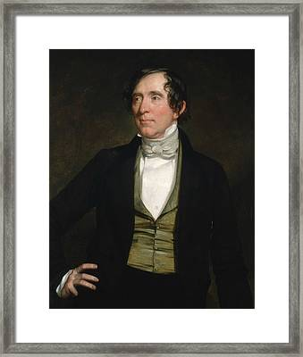 William C. Preston Framed Print by George Peter Alexander Healy