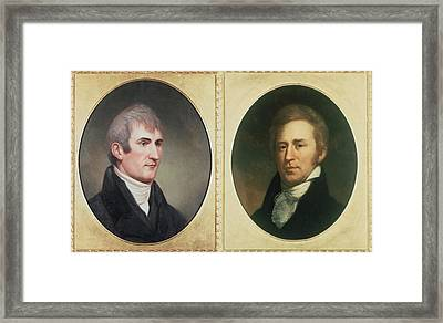 William Clark 1770-1838 And Meriwether Framed Print