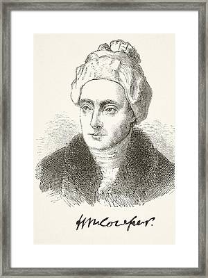 William Cowper 1731- 1800. English Framed Print