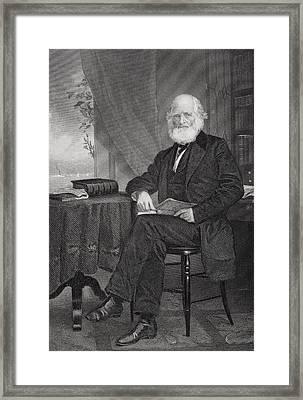 William Cullen Bryant 1794 1878 Framed Print by Vintage Design Pics