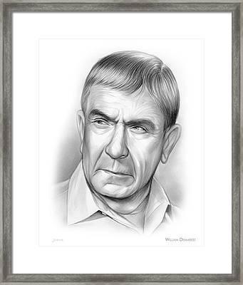 William Demarest Framed Print by Greg Joens