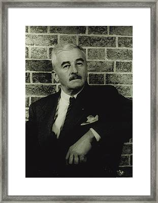 William Faulkner, Portrait By Carl Van Framed Print