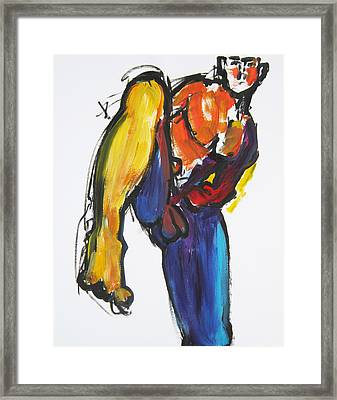 William Flynn Kick Framed Print
