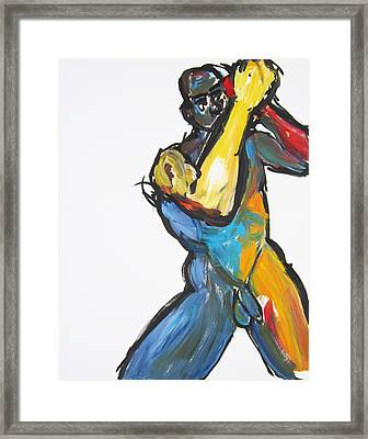 Framed Print featuring the painting William Flynn Upper Cut by Shungaboy X