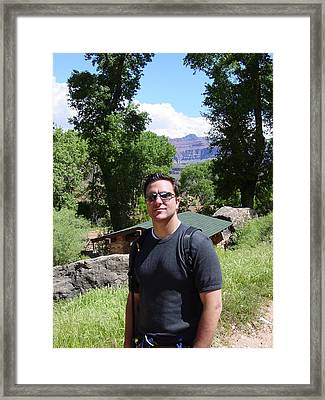 William Hiking The Grand Canyon Framed Print by William Watson