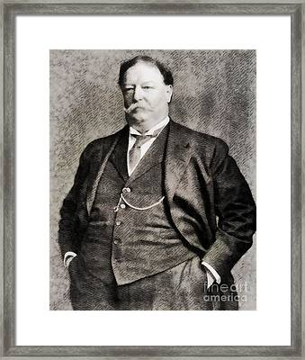 William Howard Taft, President Of The United States By John Springfield Framed Print by John Springfield