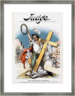 William Jennings Bryan And The Cross Framed Print by Everett