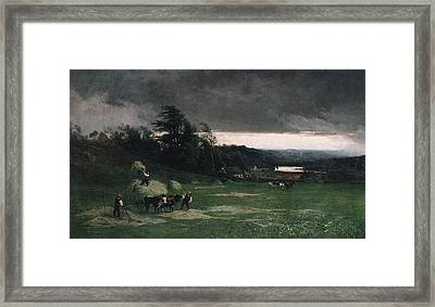 William Keith    Approaching Storm Framed Print