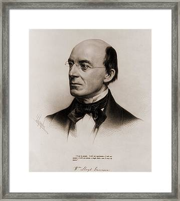 William Lloyd Garrison 1805-1879 Joined Framed Print