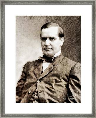 William Mckinley, President Of The United States By John Springfield Framed Print by John Springfield