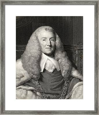William Murray 1st. Earl Of Mansfield Framed Print by Vintage Design Pics