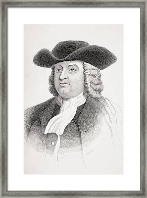 William Penn 1644-1718 English Quaker Framed Print