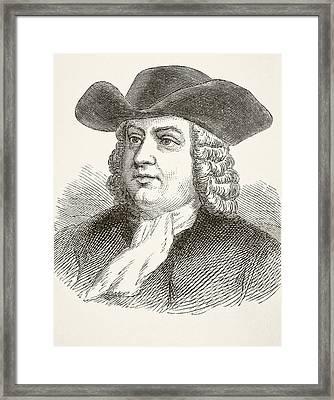 William Penn 1644 To 1718, English Framed Print