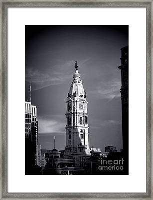 William Penn Above Philadelphia City Hall Framed Print by Olivier Le Queinec