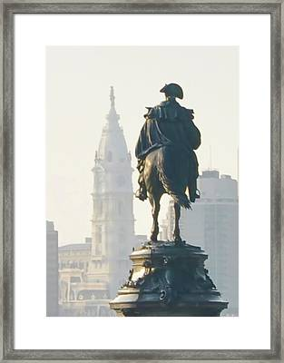 William Penn And George Washington - Philadelphia Framed Print by Bill Cannon