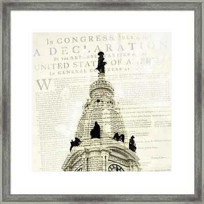 William Penn City Hall V1 Framed Print