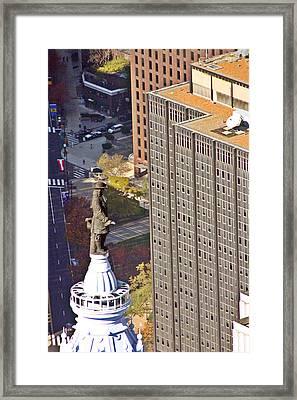 William Penn Philadelphia City Hall Framed Print by Duncan Pearson