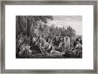 William Penn S Treaty With The Indians Framed Print