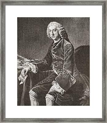 William Pitt, 1st Earl Of Chatham, 1708 Framed Print