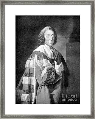 William Pitt, Prime Minister Of Britain Framed Print